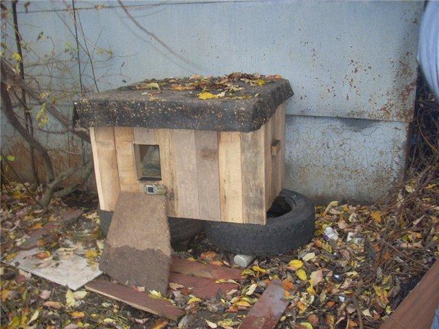 Тёплый дом для кошки своими руками 15